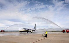 Castellón airport, an emblem of Spain's reckless boom-era infrastructure spending, received its first commercial passenger flight on Tuesday morning