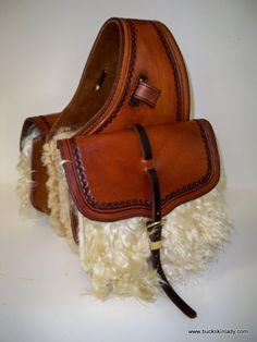 Beautiful woolies saddle bag