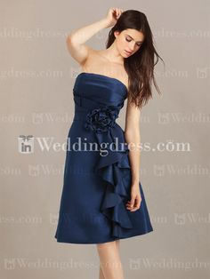 Short+A-Line+Bridesmaid+Dress+with+Ruffles+BR111