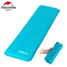 Naturehike Ourdoor Camping Sleeping Pad Fast Filling Super Light Easy Storage Waterproof Air Cushions Climbing Floating 2 Color