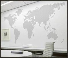 adesivo decorativo para paredes, mapa mundi poá tam. m
