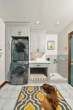 Small laundry room ideas stackable washer dryer laundry room traditional with do. Small laundry room ideas stackable washer dryer laundry room traditional with dog wash dog grooming Tiny Laundry Rooms, Laundry Room Remodel, Laundry Room Organization, Laundry Room Design, Stackable Washer And Dryer, Stackable Washer Dryer Dimensions, Stacked Washer Dryer, Laundry Dryer, Dog Wash