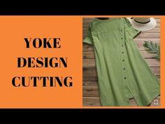 Yoke Design Dress with Front Overlapping Panels, Cutting and Stitching Kurti design – dressempty Drape Dress Pattern, Dress Sewing Patterns, Dress Neck Designs, Designs For Dresses, Girls Frock Design, Stitching Dresses, Churidar Designs, Kurta Neck Design, Dress Cuts