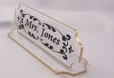 Acrylic DeskPlate  Hand Crafted, Hand decorated and Items are 100% proudly Made in USA