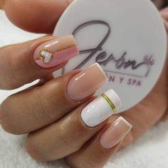 Mani Pedi, Manicure And Pedicure, Pedicures, Cute Nail Art, Cute Nails, Hello Nails, Basic Nails, Nail Decorations, French Nails
