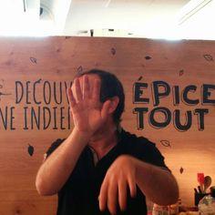 @doriancuisine  qui refuse d'être photographié !! En attente de son atelier autour de la cuisine indienne ! Instagram, Indian Cuisine, Atelier, Photography