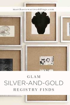 Glam Silver-and-Gold Registry Finds Pastel Wedding Colors, Martha Stewart Weddings, Gold Wedding, Metallic, Glamour, Seasons, Traditional, Holiday, Green