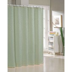 Alcott Hill Blarwood Jacquard Shower Curtain Color: Sage