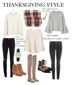 """""""thanksgiving"""" by theblondeprep ❤ liked on Polyvore featuring Madewell, Closed, J.Crew, Catherine Malandrino, Sam Edelman, MANGO, 7 For All Mankind, Banana Republic and CLUSE"""