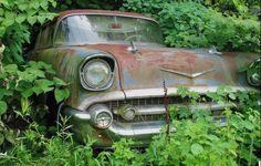 Say Chevrolet — Peek-a-boo: 1957 Chevrolet Bel Air 4-Door Sedan —...