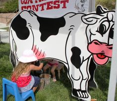 Cow Milking Contest!