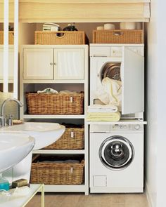 10 Ideas for When Your Laundry Room is a Closet | Decorating Files | decoratingfiles.com