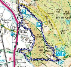 Box Hill walk: try this route to see a view that stretches for 26 miles. Length of route: 2¾ miles (3½ km) Maps:  OS Explorer Map – Dorking, Box Hill & Reigate 146 Find out more on our blog: http://blog.ordnancesurvey.co.uk/2013/08/walk-of-the-week-box-hill-surrey/