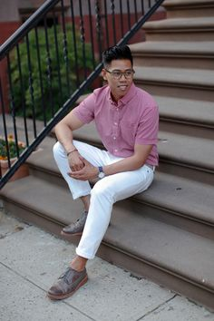 Outfit: Men's Printed Short Sleeve Button Down... | Closet Freaks | Menswear & Personal Style