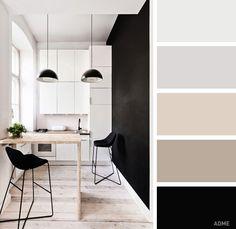 Идеальные сочетания цветов для кухни.