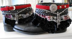 free upcycled cowboy bootss   Luxury Jones Free People inspired boho embellished cowboy boots size 9