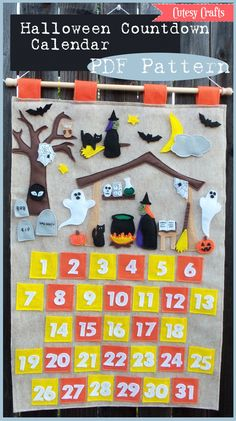 Halloween Countdown Calendar PDF Pattern. $10.00, via Etsy.