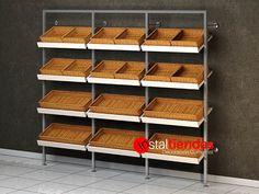 Bakery Shop Design, Restaurant Design, Store Design, Vegetable Rack, Fruit And Vegetable Storage, Fruit And Veg Shop, Bread Display, Bakery Decor, Bread Shop