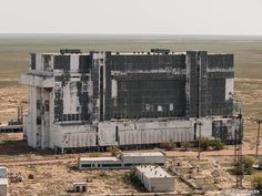 The Russian assembly building where Buran sits...having seen better days!
