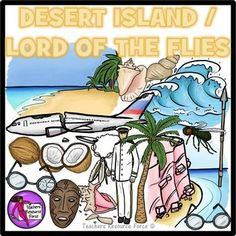 Desert island and Lord of the Flies clip art; great for your teaching resources and bulletin boards!Product includes: Beach Palm tree Shells (x2)…