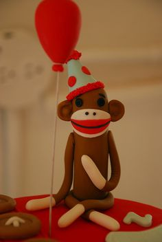 sock monkey cake...really want a sock monkey party for Coy's 2nd birthday