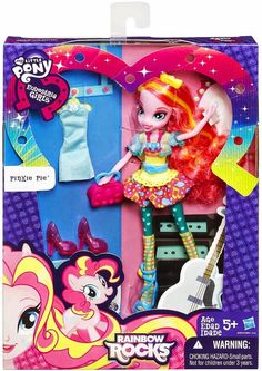 Pinkie Pie Rainbow Rocks Equestria Girls Fashion Doll