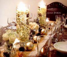 Glamorous gold wedding table setting idea | Project by Sweet Trinkets http://www.bridestory.com/sweet-trinkets/projects/christmas-housewarmings-dinner