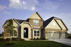 Exterior of the St Jude Dream Home 2010. Built by Fischer & Frichtel Homes in St. Louis, MO.