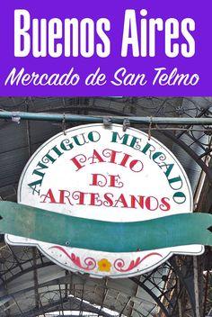 O Mercado de San Telmo em Buenos Aires