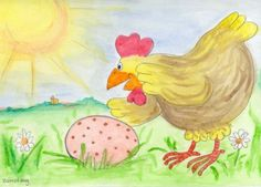 Kippetje ukkepuk heeft het altijd druk!   Op maandag moet het dweilen   Op dinsdag nageltjes veilen   Op woensdag wormpjes bakken   Op donderdag houtjes hakken   Op vrijdag kippenpap roeren   Op zaterdag de kuikentjes voeren.   Alleen op zondag heeft ze vrij..dan legt ze een gespikkeld ei!