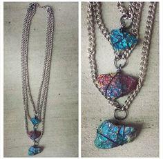 Custom Layer Peacock Ore Necklace by SavageByBritt
