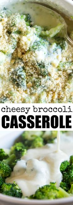 To make Cheesy Broccoli Casserole, just toss blanched broccoli florets in an easy, homemade Mornay cheese sauce and top with cracker crumbs! via @culinaryhill