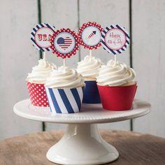 Cupcakes para el 4 de julio