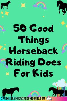 Horse riding is a great activity for kids. Find out 50 benefits that horseback riding can give to your child. There are mental and physical benefits to riding horses, as well as improving character, building life skills, and more!  #benefitsofhorseriding #horseridingforkids #kidsridinghorses #horselovingkids #benefitsofhorseridingforkids #sparklesrainbowsandunicorns Horse Riding For Kids, Horse Riding Tips, Horseback Riding Tips, Getting Back In Shape, Riding Lessons, Depression Help, Horse World, Horse Care, Life Skills