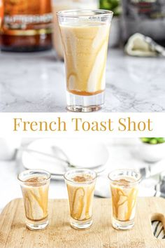 Start your boozy brunch off with a French Toast Shot! The perfect shot for a brunch party. Tastes just like french toast with a dash of cinnamon. Move over mimosa and Bloody Mary, the French Toast Shot is here to kick start your boozy brunch! Brunch Drinks, Fall Drinks, Brunch Party, Party Drinks, Summer Drinks, Cocktail Drinks, Cocktail Recipes, Breakfast Alcoholic Drinks, Summer Shots