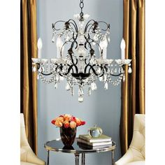 Schonbek Madison Collection Six Light Crystal Chandelier - #50087 | LampsPlus.com