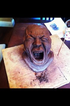 Art- my final exam piece. A transcription of The Yawner- Franz Xaver Messerschmidt