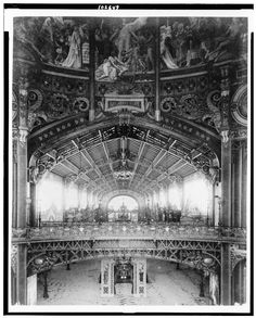 Inside the Central Dome of the Gallery of Thirty Meters at the 1899 Exposition, Paris