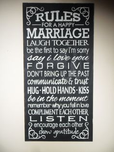 rules for a happy marriage sign marriage by farmhousechicsigns 2500