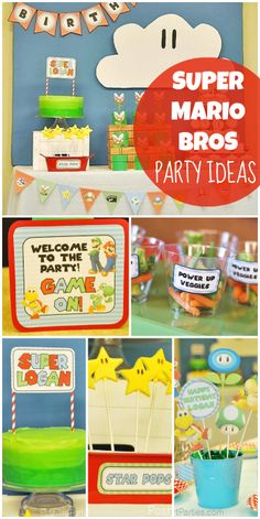 Video game fans will love this awesome Super Mario Bros boy birthday party!  See more party ideas at CatchMyParty.com!