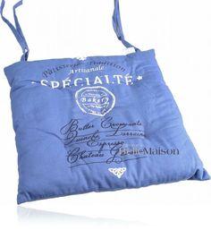 Poduszka na krzesło Specialite niebieska - BelleMaison.pl Reusable Tote Bags