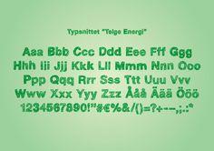 Font for Telge Energi
