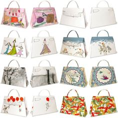 Many folded purse patterns / links here.  Mostly paper but could be made from fabrics as well.