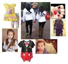 """Disney with the kids and husband"" by babykat6 ❤ liked on Polyvore featuring Disney"