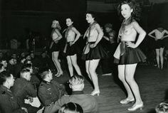 Fun for the troops. German soldiers watch topless show in Parisian club. Paris was a choice post and the most favorite location for R&R in occupied Europe.