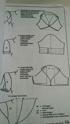 Dress Sewing Patterns, Clothing Patterns, Sewing Hacks, Sewing Tutorials, Pattern Drafting Tutorials, Sewing Collars, Sewing Sleeves, Pattern Draping, Petal Sleeve