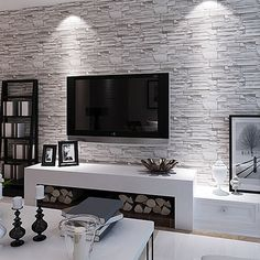 Find More Wallpapers Information about Modern 3D Brick Wallpaper PVC Waterproof Background Wallpaper Roll 3D Brick Mural Wall Paper Living room Hallway 3D Wallpaper,High Quality wall base wallpapers,China wallpaper wood Suppliers, Cheap wall sticker wallpaper from Starry Walls Decoration on Aliexpress.com