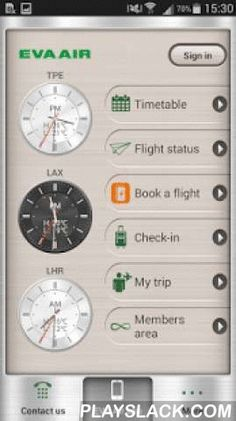 EVA Mobile  Android App - playslack.com ,  Stay on top of your travel plans with EVA Mobile. The perfect companion for business and leisure travelers, this app lets you manage your EVA Air bookings, review your Infinity MileageLands account, and instantly check the status of upcoming flights.1. Booking a flight - Now you can find a flight and buy your tickets through mobile phones. 2. Flight Info - Browse the EVA Air flight schedule, check the status of departing and arriving flights, and…