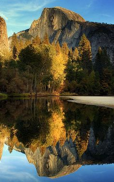 Reflected Half Dome, Yosemite National Park, United States - | nature | | reflections |  #nature  https://biopop.com/
