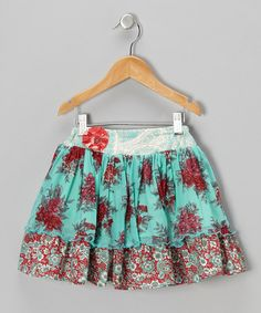 {Red & Blue Addie Skirt - Infant, Toddler & Girls by Moxie & Mabel}